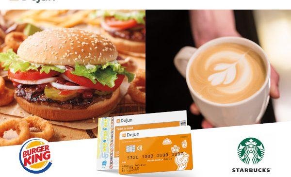 Cardurile Up Dejun, emise de Up România, vor putea fi folosite în cafenelele Starbucks și în lanțurile de restaurante Burger King