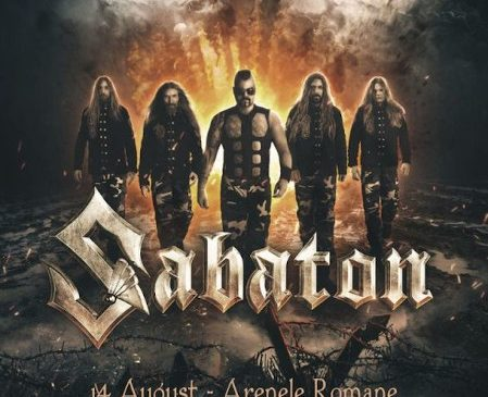 Concert SABATON – The Great Tour la Arenele Romane pe 14 August