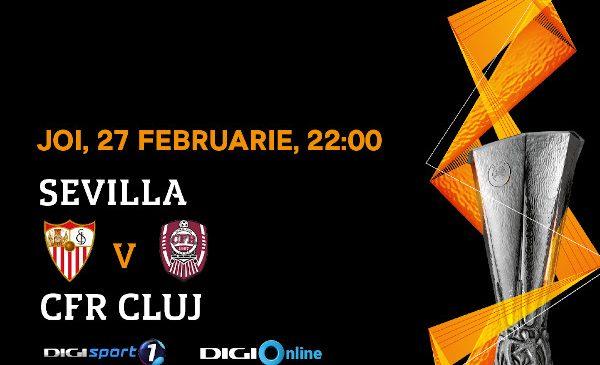 Românii speră la încă o minune a CFR Cluj în meciul cu FC Sevilla