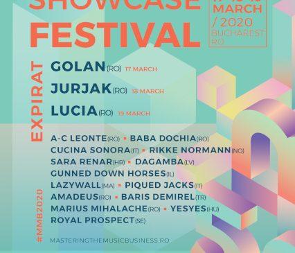 GOLAN, Lucia și Jurjak – headlineri ai MMB Showcase Festival