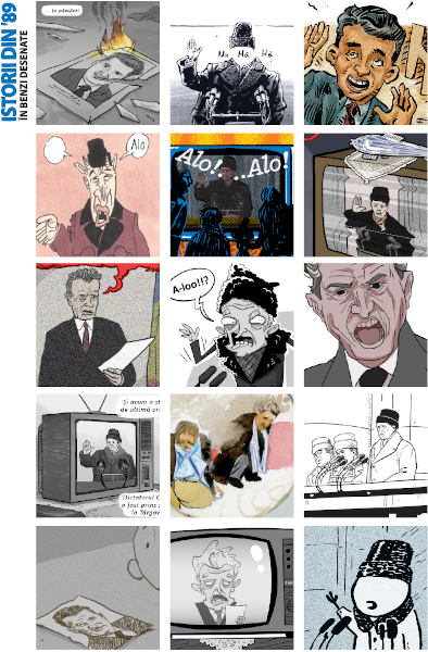 Nicolae Ceausescu in benzi desenate - Istorii din 89