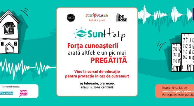 Vino la Sun Help – curs gratuit de pregătire în caz de cutremur