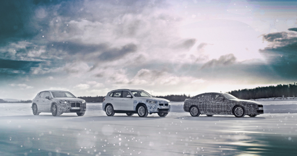 The BMW iNEXT, the BMW i4 and the BMW iX3 undergo winter trial tests