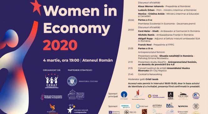 Gala Women in Economy 2020 premiază excelența în business
