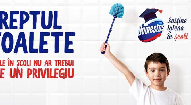 Domestos și Crucea Roșie Română continuă să lupte pentru Dreptul la toalete și anunță următoarea școală care va beneficia de renovarea grupului sanitar, din cele peste 200 de înscrieri
