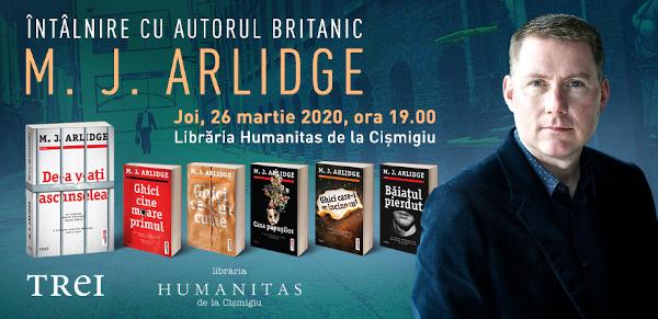 """Creatorul unuia dintre cele mai fascinante personaje ale genului thriller, detectivul Helen Grace, scriitorul britanic M.J. Arlidge vine pentru prima dată în România pentru lansarea romanului """"De-a v-ați ascunselea"""", la Editura Trei"""