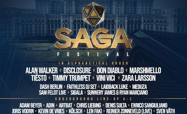 Un nou val de vedete ale scenei muzicale internaționale completează line-up-ul de excepție al SAGA Festival