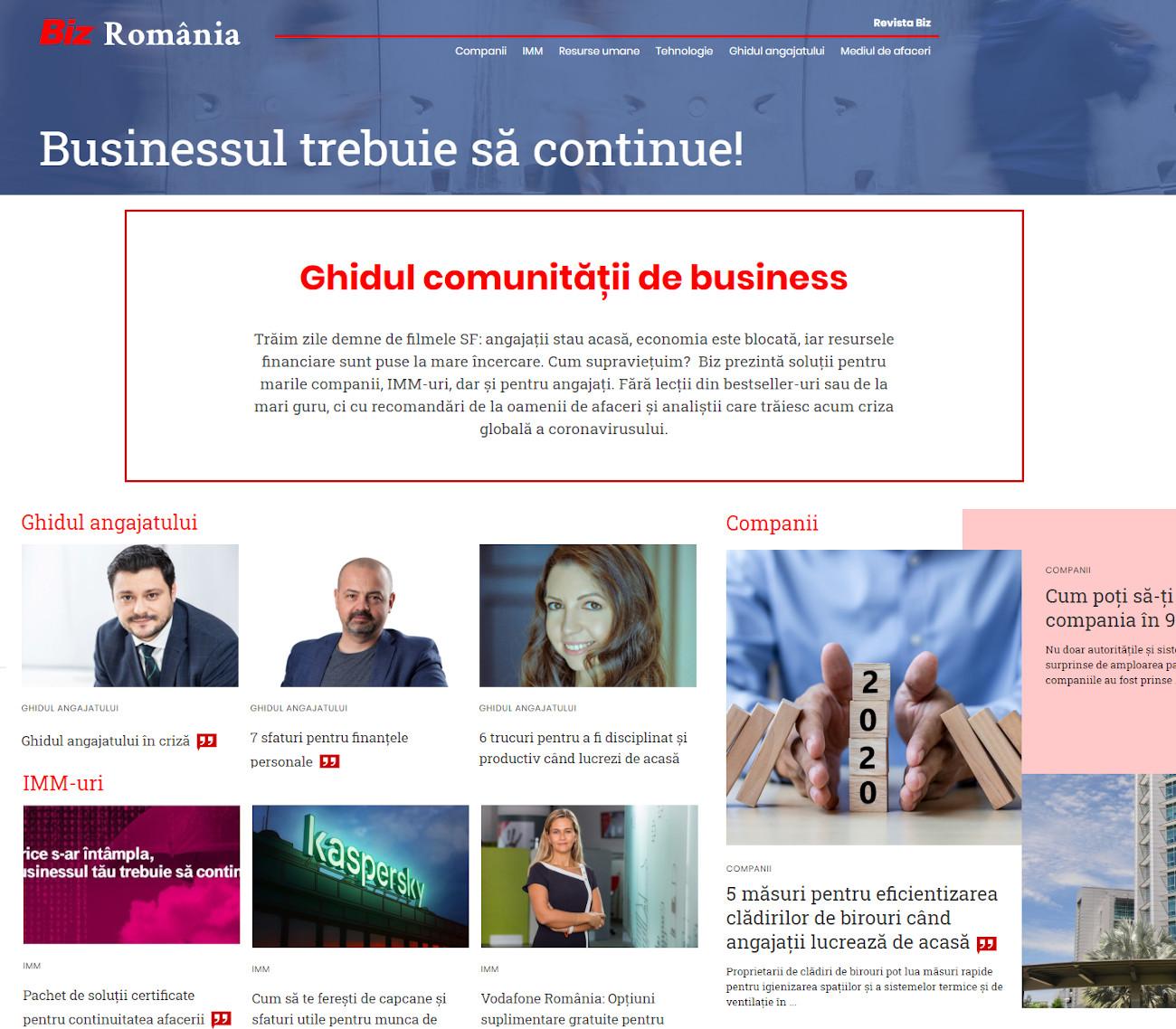 BizRomania - businessul trebuie sa continue