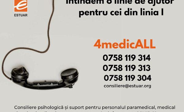Fundația Estuar lansează o linie telefonică de suport psihologic pentru personalul medical, paramedical și sanitar