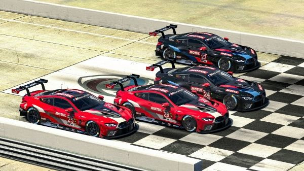 Munich (GER), 20th March 2020. Sim racing, BMW M8 GTE, virtual, iRacing, Sebring, Bruno Spengler, Jesse Krohn, Colton Herta, Nick Catsburg