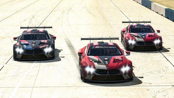 Munich (GER), 21st March 2020. Sim Racing, IMSA Sebring SuperSaturday, iRacing, BMW M8 GTE, Bruno Spengler, Nick Catsburg, Jesse Krohn