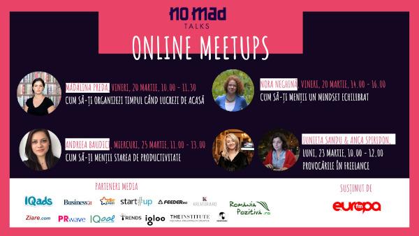 NO.MAD Talks lanseaza Online Meetups