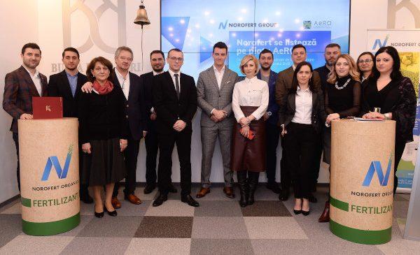 Acțiunile Norofert au început tranzacționarea pe piața AeRO a Bursei de Valori București