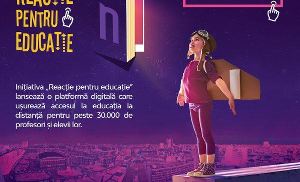 """Narada și Ministerul Educației și Cercetării lansează cu sprijinul Cora România inițiativa """"Reacție pentru educație"""", o platformă digitală menită să ușureze accesul la educația la distanță pentru profesori și elevi"""