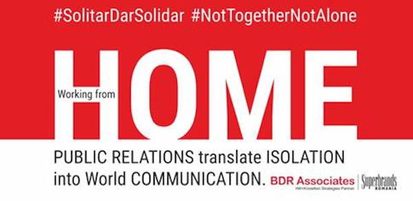 #SolitarDarSolidar, #NotTogetherNotAlone