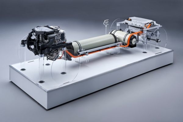 The second generation of the BMW fuel cell powertrain with a total system output of 275 kW will be piloted in the BMW i Hydrogen NEXT from 2022