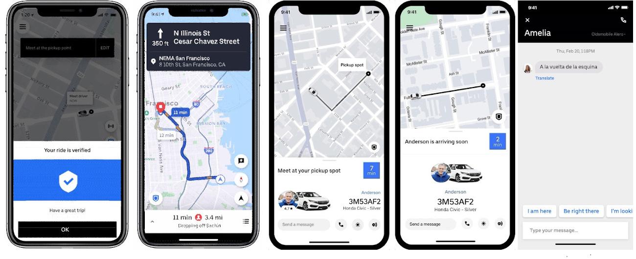 Uber lanseaza noi functii in aplicatie