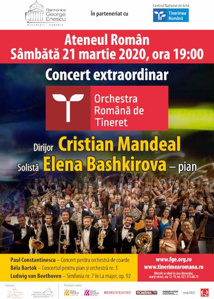 afis turneu Orchestra Romana de Tineret la Chisinau - Bucuresti - Ruse