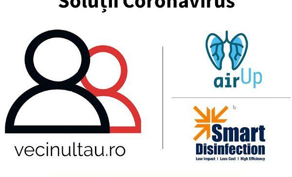 3 soluții românești la provocările Covid-19 primesc suport financiar și mentorat în Future Makers: VecinulTau.ro, Air Up ventilator și Smart Disinfection System