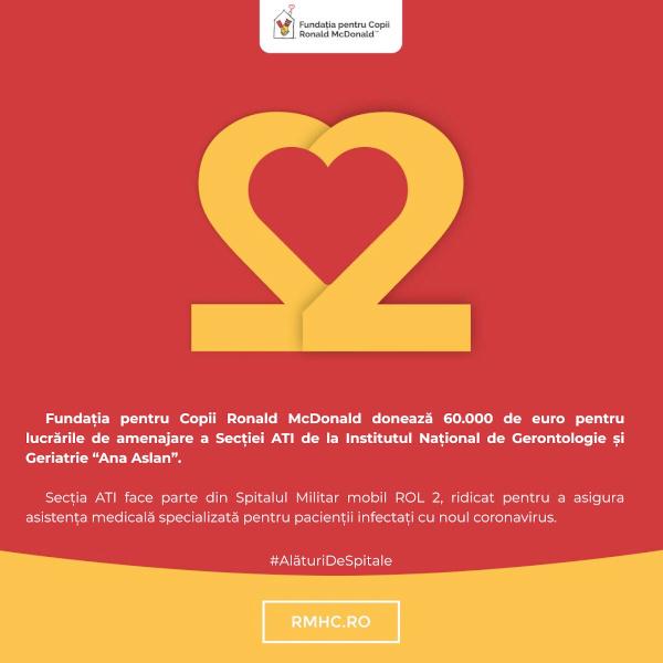 Fundatia pentru Copii Ronald McDonald - COVID-19