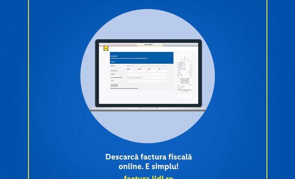 Pentru a rămâne #ÎmpreunăÎnSiguranță și a reduce timpul petrecut în magazine, Lidl recomandă utilizarea serviciului de emitere online a facturilor pentru persoane juridice