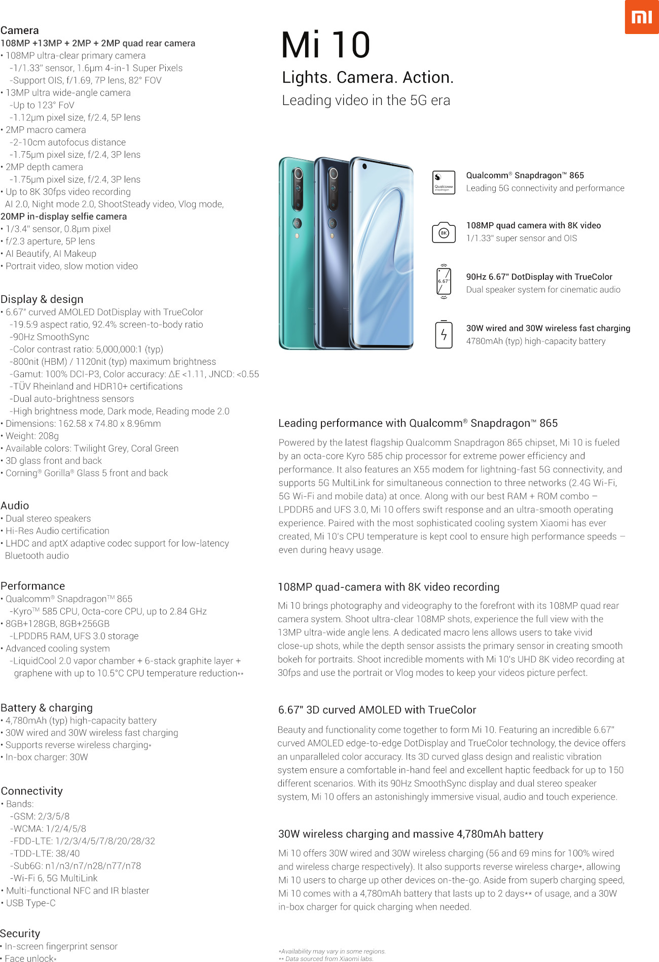 Mi 10 one-pager