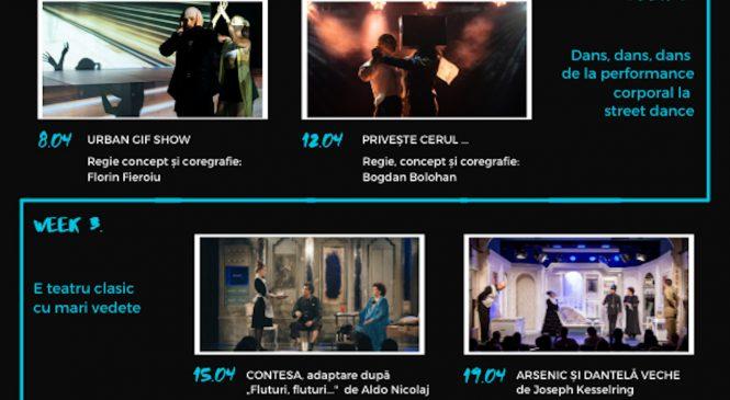 Cele mai recente spectacole contemporane și clasice din stagiunea Teatrelli sunt acum disponibile online gratuit