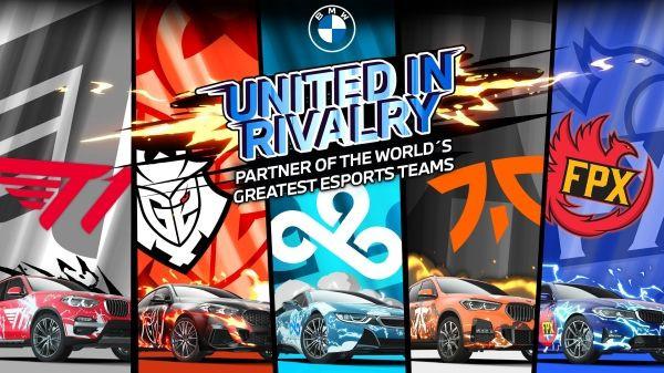 """""""United in Rivalry"""" – BMW colaborează cu cele mai importante echipe de esport din lume"""