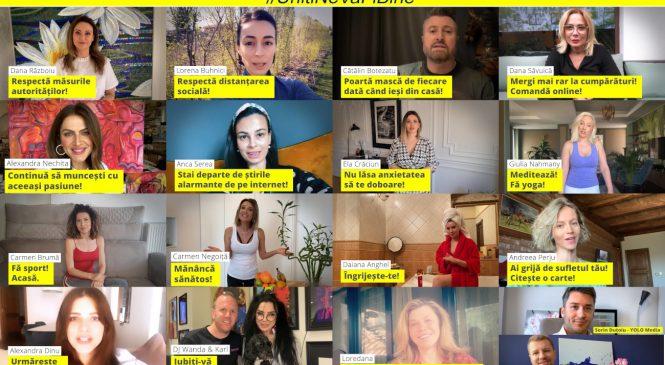 15 vedete transmit recomandări pentru o izolare la domiciliu eficientă, în noua campanie YOLO Media, #UnițiNeVaFiBine