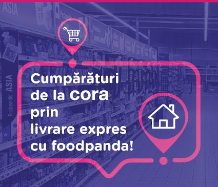 cora România și foodpanda au încheiat un parteneriat pentru livrări rapide la domiciliul clienților