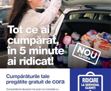 cora extinde comenzile online, cu ridicare în 5 minute din magazin în Ploieşti, Cluj și Drobeta-Turnu Severin