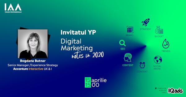 Invitatul YP: Bogdana Butnar | Digital Marketing Notes in 2020