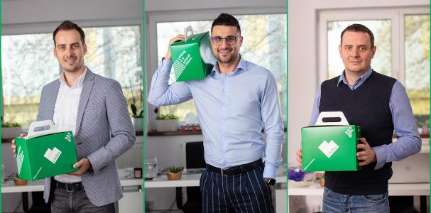 Cofondatorii LifeBox: Florin Scarlat, Radu Balaceanu si Lukasz Kuzniar