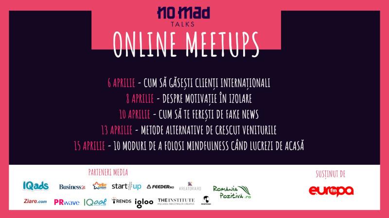 NO.MAD Talks Online Meetups saptamana 3