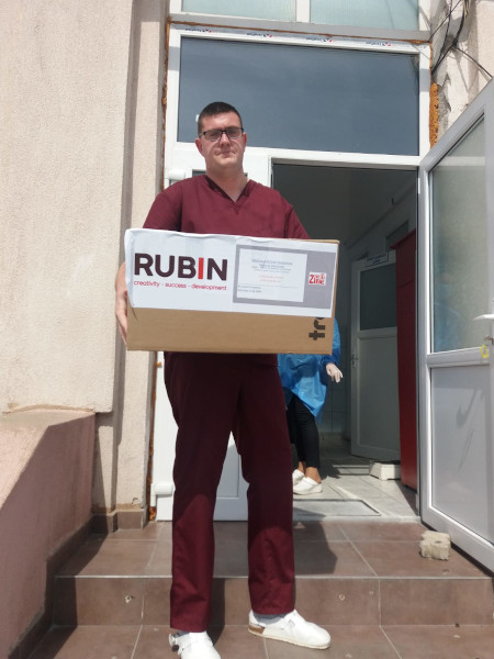 Rubin 2000 viziere donatie spital Targoviste