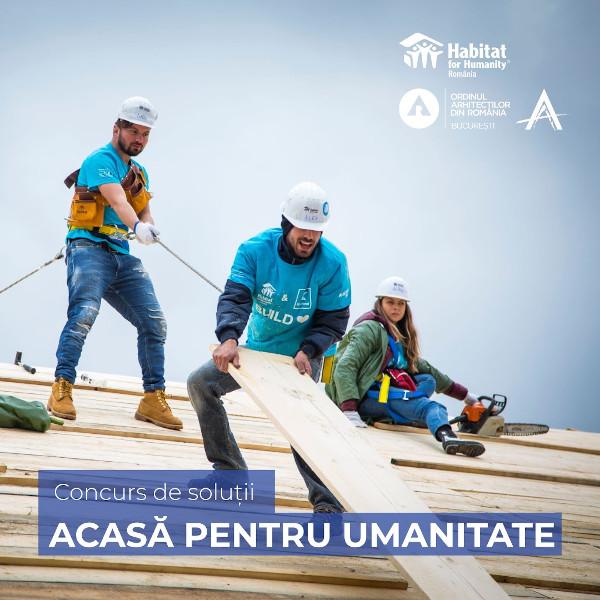"""OAR București și Habitat for Humanity România lansează concursul de soluții de arhitectură """"Acasă pentru umanitate"""""""