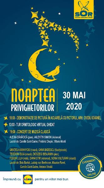Afis SOR - Noaptea Privighetorilor 2020