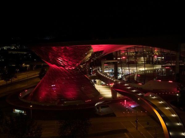 BMW Welt reopening illumination