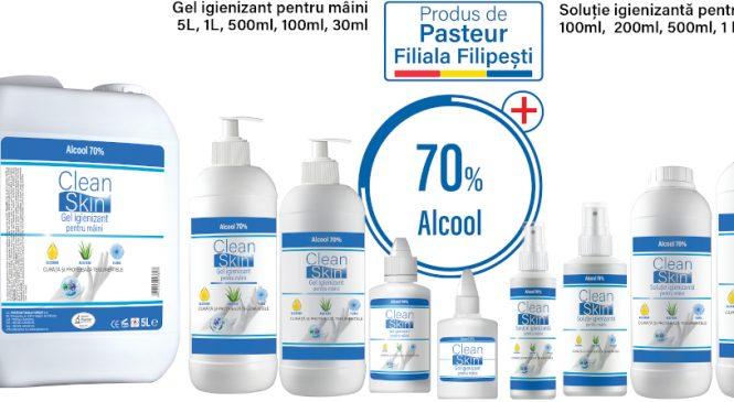 Pasteur Filiala Filipești a început să producă geluri igienizante pentru uz uman