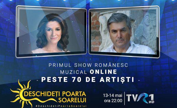"""""""Deschideţi poarta soarelui"""": primul show de televiziune din România înregistrat online cu peste 70 de artişti"""