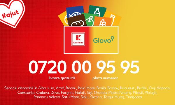 Kaufland ajunge la tine #acasă și extinde serviciul de livrare la domiciliu prin Glovo în 11 orașe noi