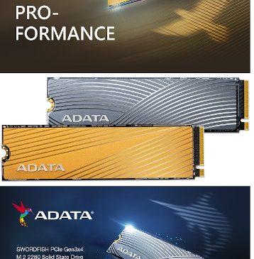 ADATA lansează SSD-urile FALCON și SWORDFISH PCIe Gen3x4 M.2 2280 destinate creatorilor de conținut