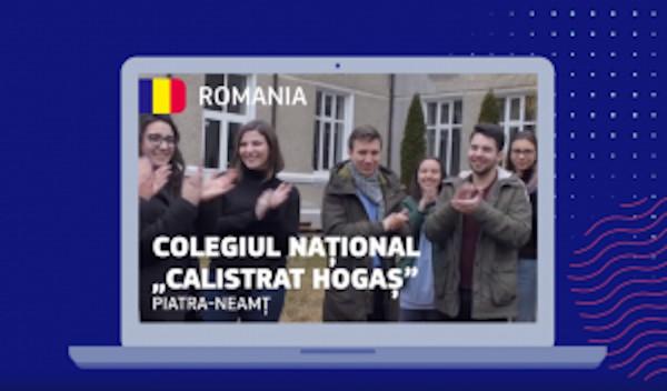 """Învățând despre Uniunea Europeană — Colegiul Național """"Calistrat Hogaș"""" din Piatra-Neamț este câștigătorul din partea României al premiului """"Jan Amos Comenius"""", în valoare de 8.000 de euro"""