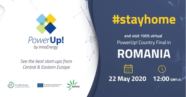 Finala națională a competiției PowerUp! Challenge, organizată de InnoEnergy, se defășoară online, pe 22 mai. Cinci startup-uri românești își vor prezenta proiectele