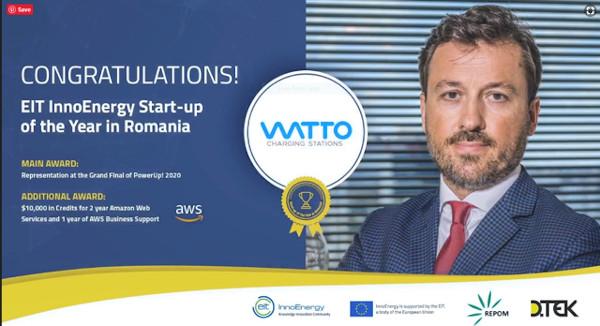 WATTO câștigă titlul 'Startup-ul anului în energie' din România, în cea mai importantă competiție pentru startup-uri din Europa Centrală și de Est
