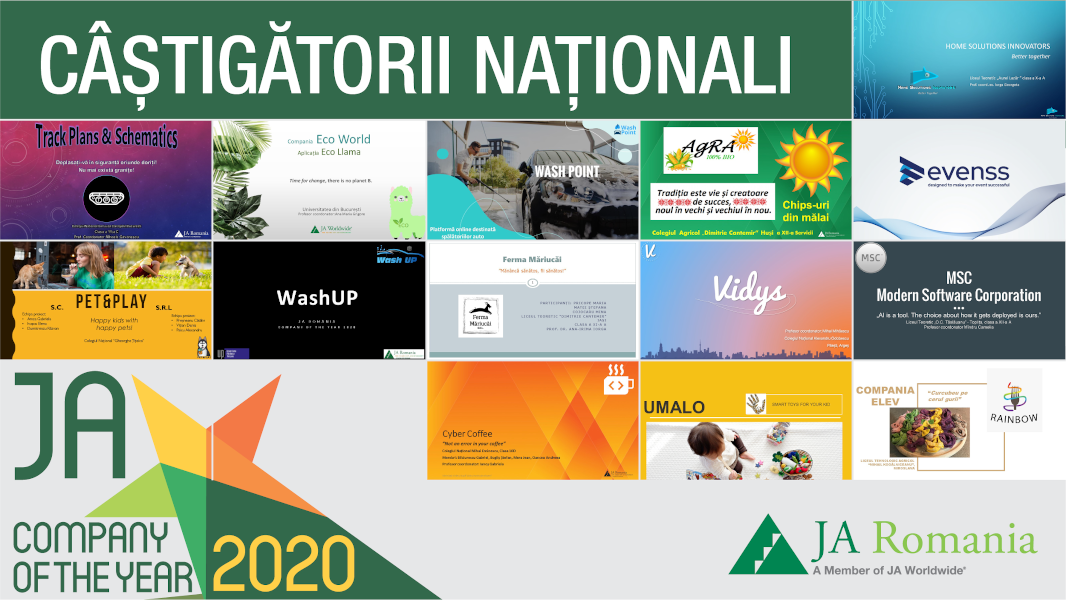 Castigatori Junior Achievement (JA) Compania Anului 2020
