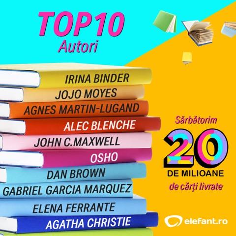 top 10 autori elefant.ro