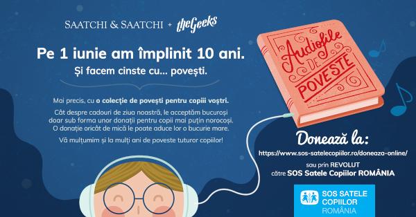 """""""Audiofile de poveste"""", campania aniversară de 10 ani a geekșilor din Saatchi & Saatchi + The Geeks"""