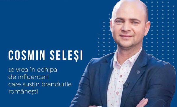 Actorul Cosmin Seleși lansează o campanie de susținere a brandurilor românești intitulată #influencerpentruRomania