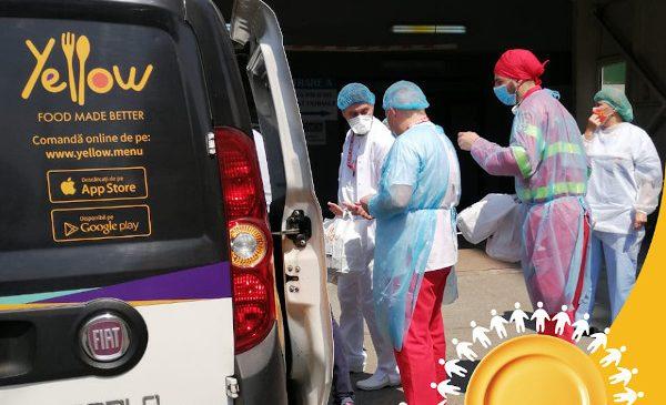 Campania #FarfuriiLaDatorie a livrat peste 10.000 de porții de mâncare medicilor și personalului medical din Capitală pe durata stării de urgență